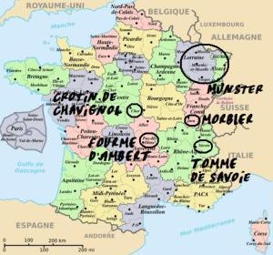 carte des fromages goûtés